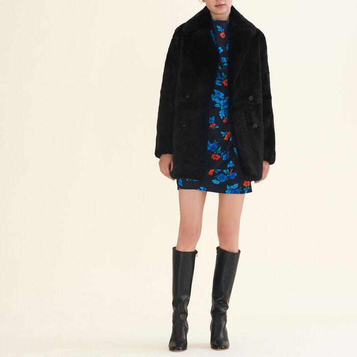 Rabbit coat - Coats & Jackets - MAJE