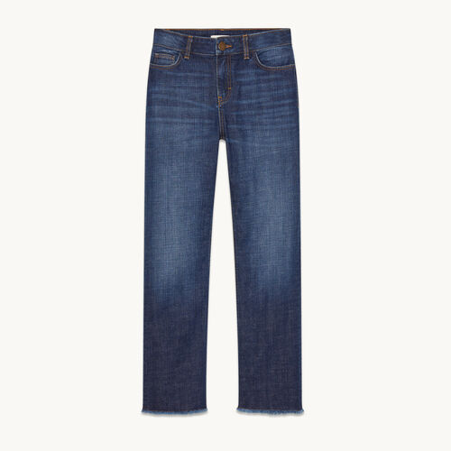 Stretch cotton straight jeans - Pants & Jeans - MAJE