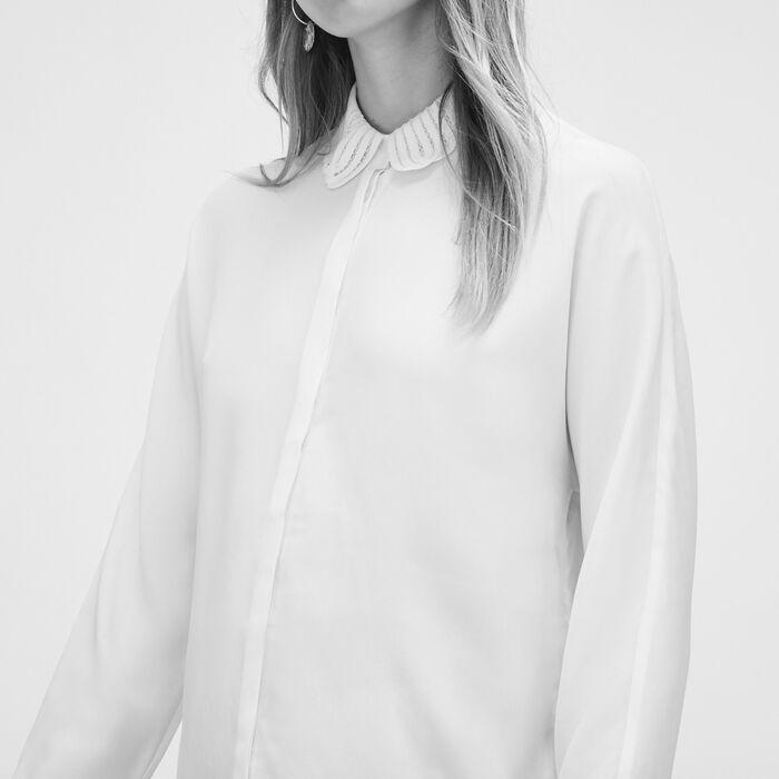 Silk blend shirt - Tops & Shirts - MAJE