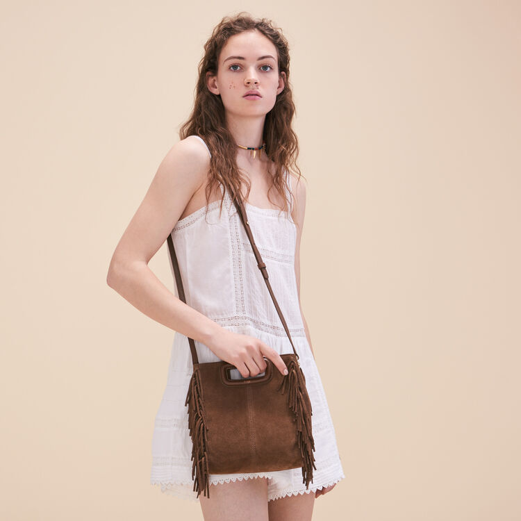 Suede M bag - COLOURS OF THE DESERT - MAJE