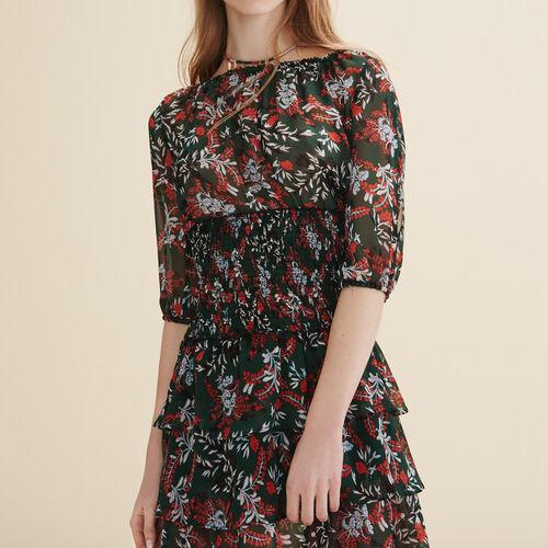 Long dotted Swiss dress - Dresses - MAJE