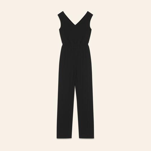 Sleeveless crêpe jumpsuit - Evening Capsule - MAJE