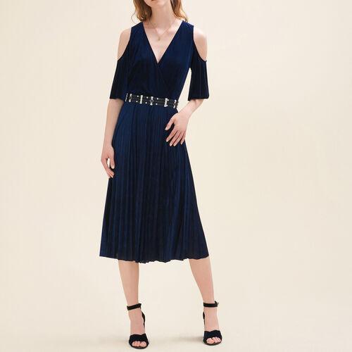 Pleated off-the-shoulder dress - Dresses - MAJE