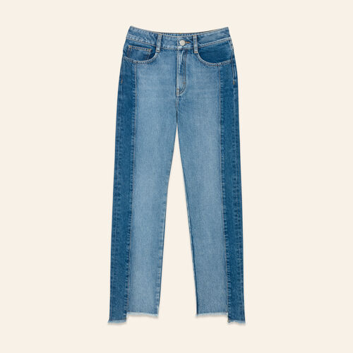 Straight-cut faded denim jeans - Pants & Jeans - MAJE