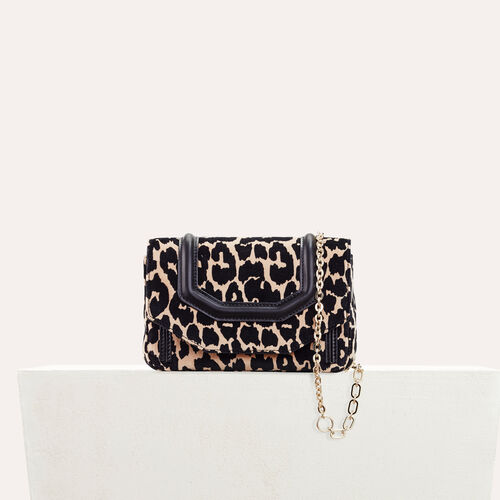 Leopard print evening bag - All bags - MAJE