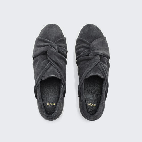 Suede trainers with bow - Shoes - MAJE