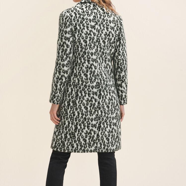 Leopard-print frock coat - Coats & Jackets - MAJE