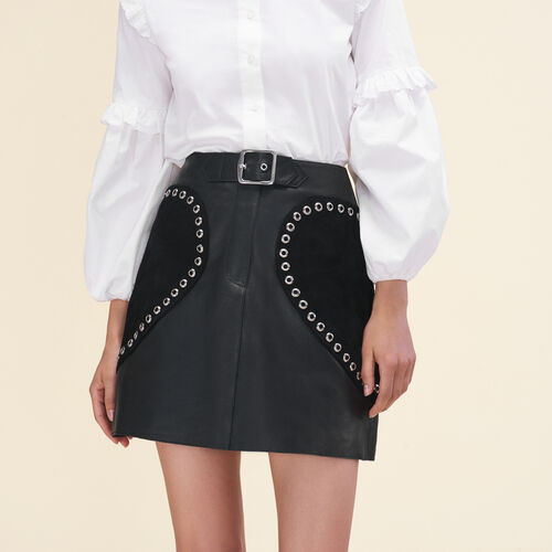 Leather A-line skirt - Skirts & Shorts - MAJE