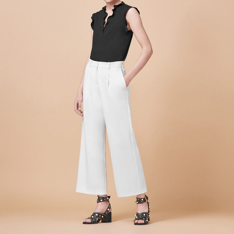 Wide trousers with darts - Pants & Jeans - MAJE
