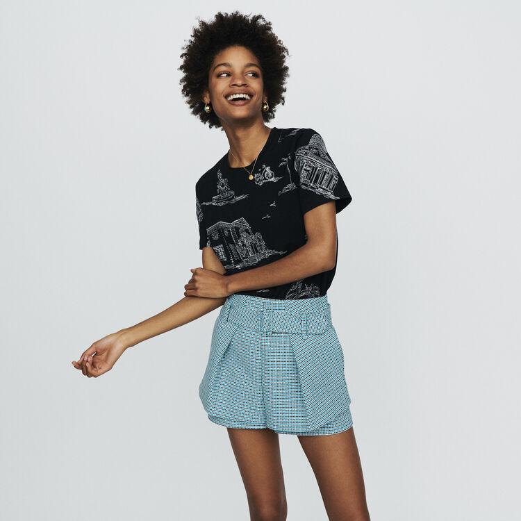 마쥬 MAJE IKAR Tweed-style shorts,Blue