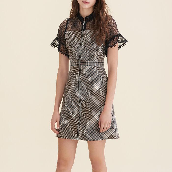 Short dual-material dress - Dresses - MAJE