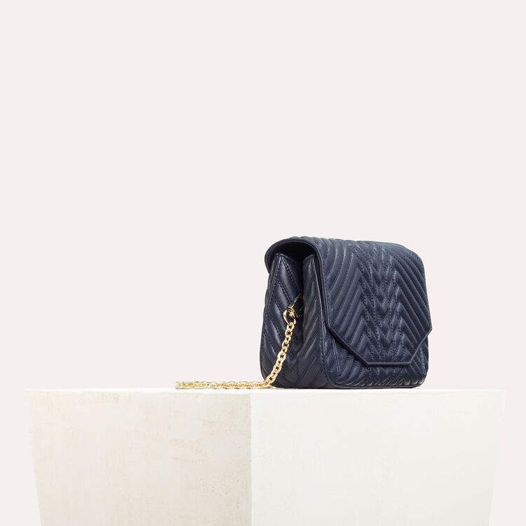 Quilted leather evening bag    -  - MAJE
