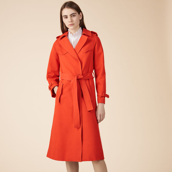 Cotton trench coat -  - MAJE