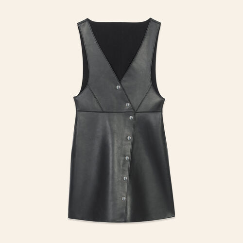 Leather sleeveless dress - Dresses - MAJE