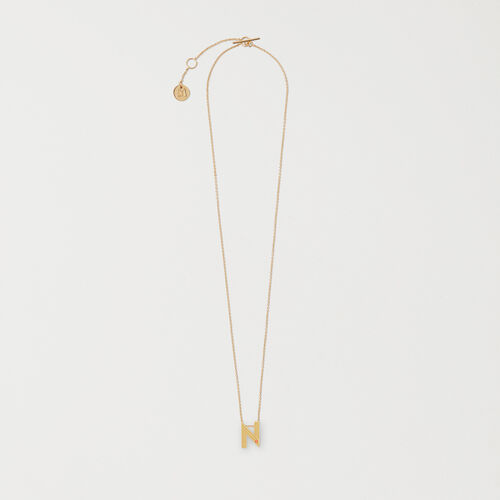Necklace with initial pendant - New Accessories - MAJE