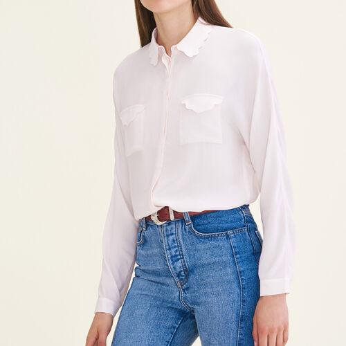 Silk blend shirt - Tops & T-Shirts - MAJE