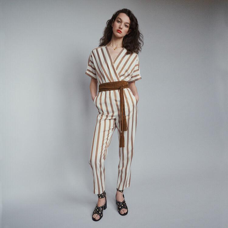 마쥬 PIENI 스트라이프 점프수트 MAJE PIENI Striped jumpsuit