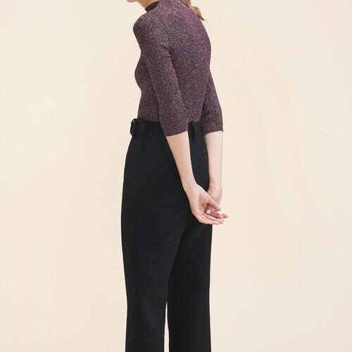 Lurex knit fitted jumper - Sweaters - MAJE