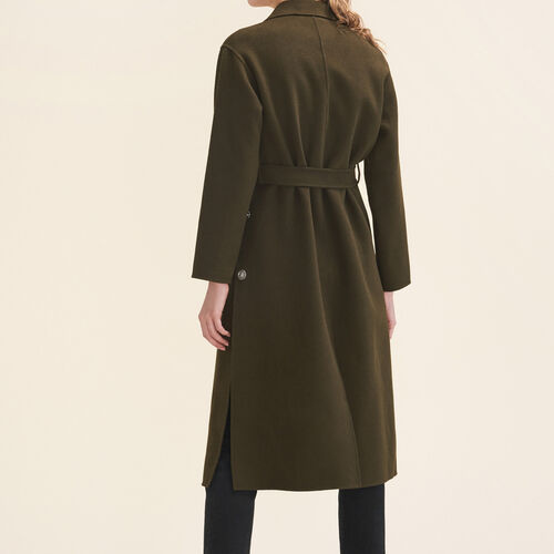 Long double-sided coat - Coats & Jackets - MAJE