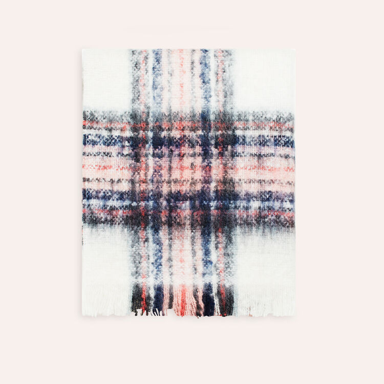 Thick checked scarf -  - MAJE