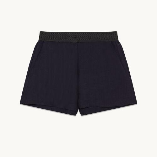 Short shorts in ottoman fabric - Skirts & Shorts - MAJE