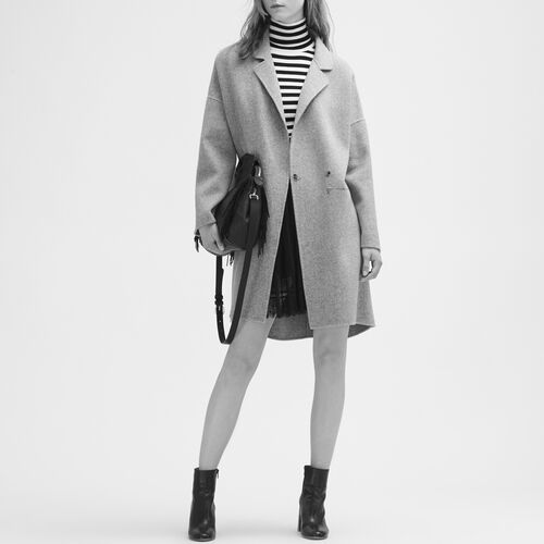 Double-sided wool coat - Coats & Jackets - MAJE