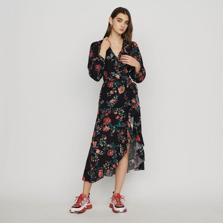 마쥬 ROSETINA 프린티드 랩 롱원피스 MAJE Long printed wrap dress,PRINTED