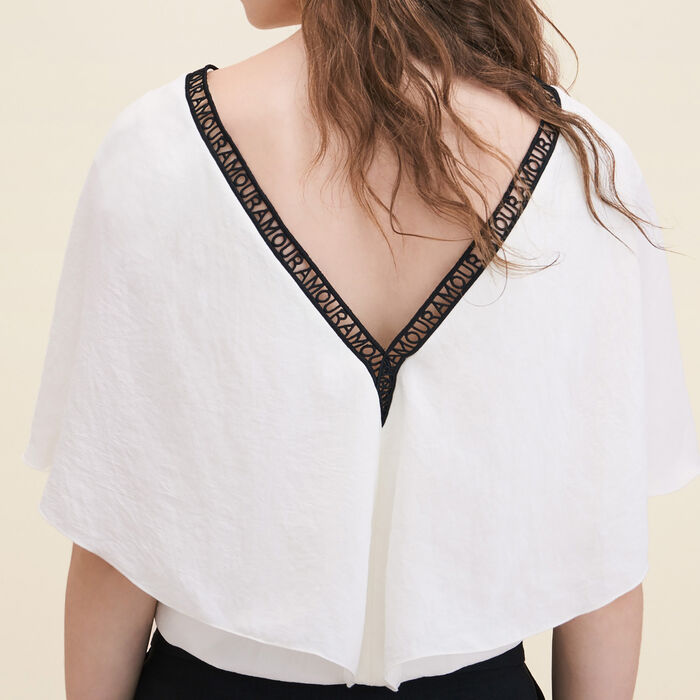 Loose crêpe top -  - MAJE