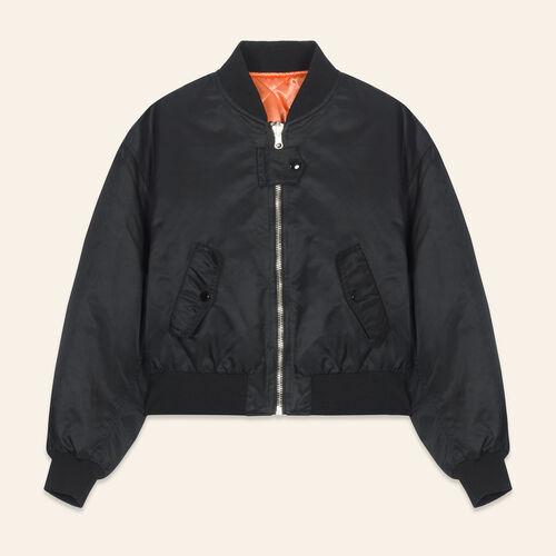 Cropped reversible bomber jacket - Coats & Jackets - MAJE