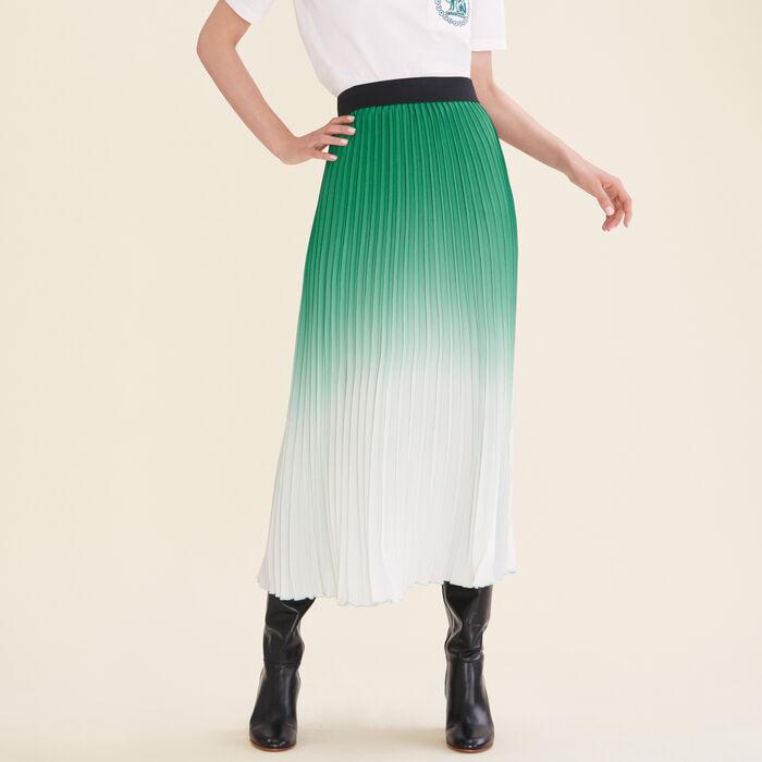 Pleated tie-dye skirt -  - MAJE