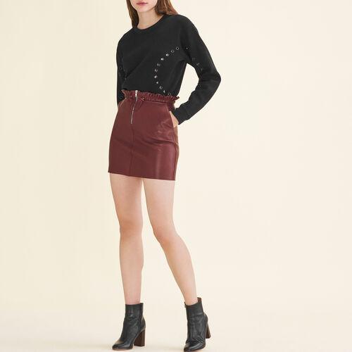 Zipped leather skirt - Majexclusive - MAJE