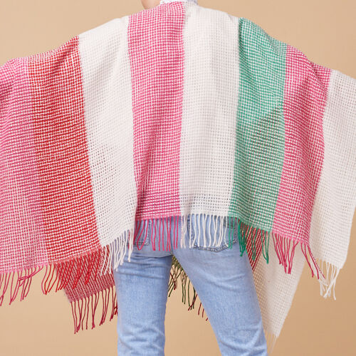 Wool-blend striped poncho - Shoes & Accessories - MAJE