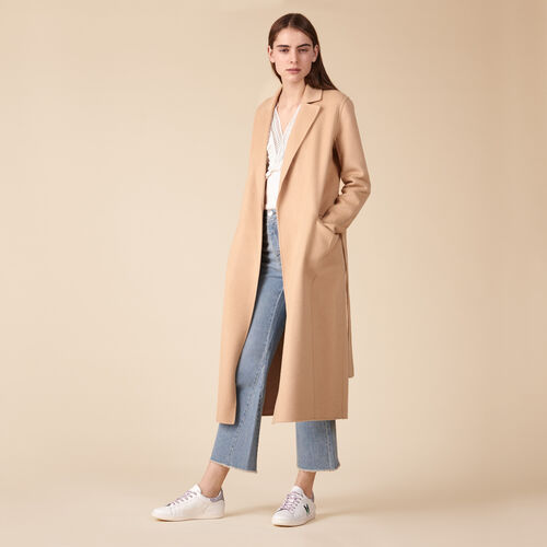 Wool-blend coat - Coats & Jackets - MAJE