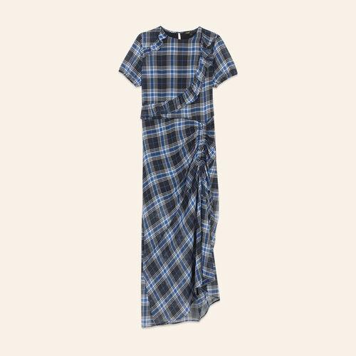 Long checked dress - Dresses - MAJE