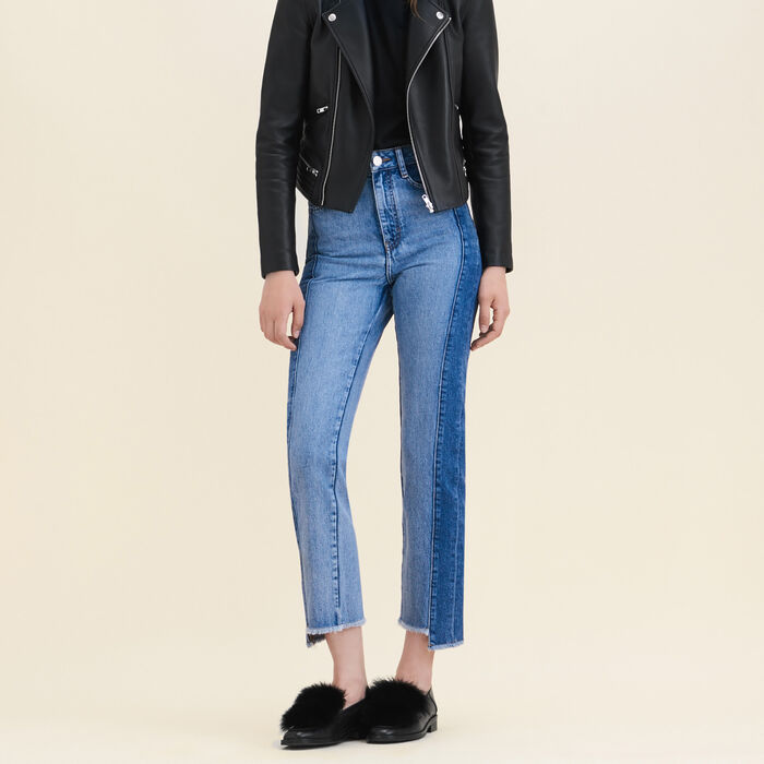 Straight-cut faded denim jeans -  - MAJE
