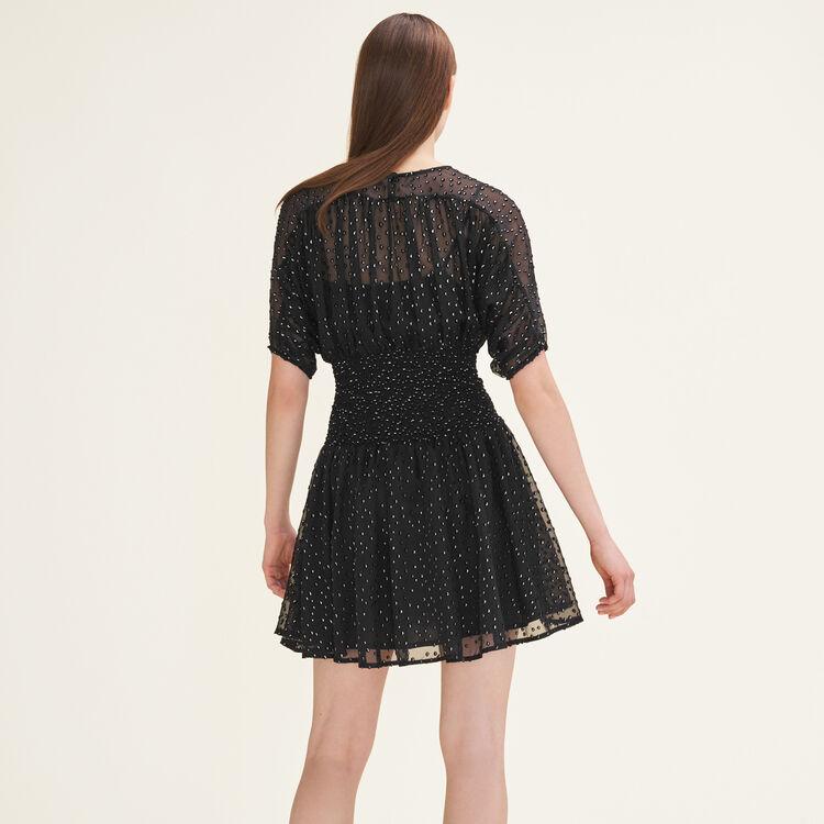 Flocked dress - Dresses - MAJE