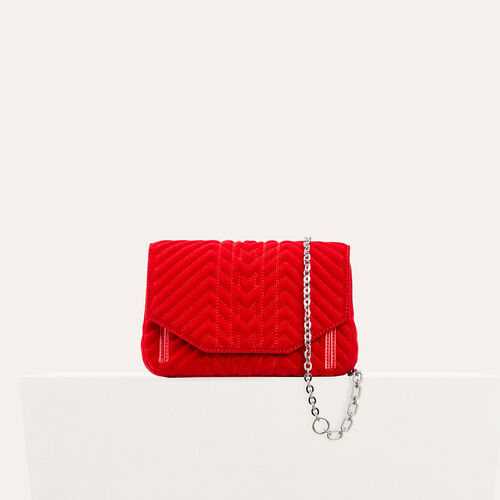 Quilted velvet evening bag - All bags - MAJE
