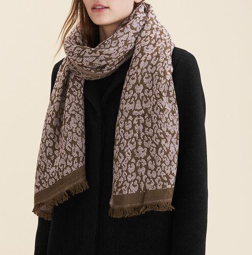 Leopard print scarf - Scarves - MAJE