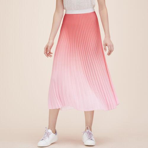 Pleated tie-dye midi skirt - Skirts & Shorts - MAJE