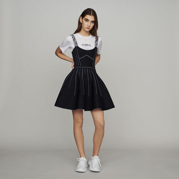 마쥬 RELIEF 리버시블 미니 원피스 블랙 210 MAJE Reversible weaved short dress,Black 210