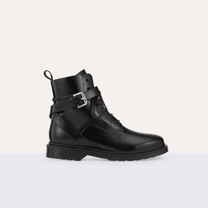 Long leather boots -  - MAJE