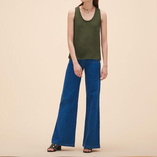 Crêpe vest - Tops & T-Shirts - MAJE