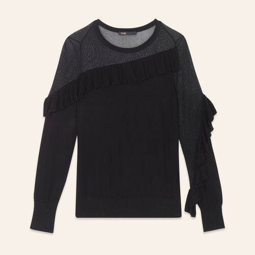 Fine jumper with frills - Sweaters - MAJE