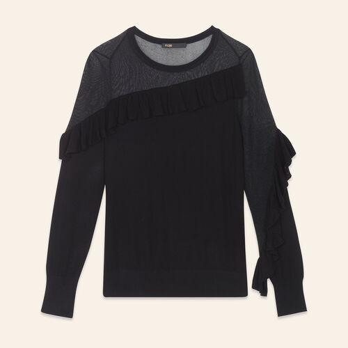 Fine jumper with frills - Sweaters - MAJE