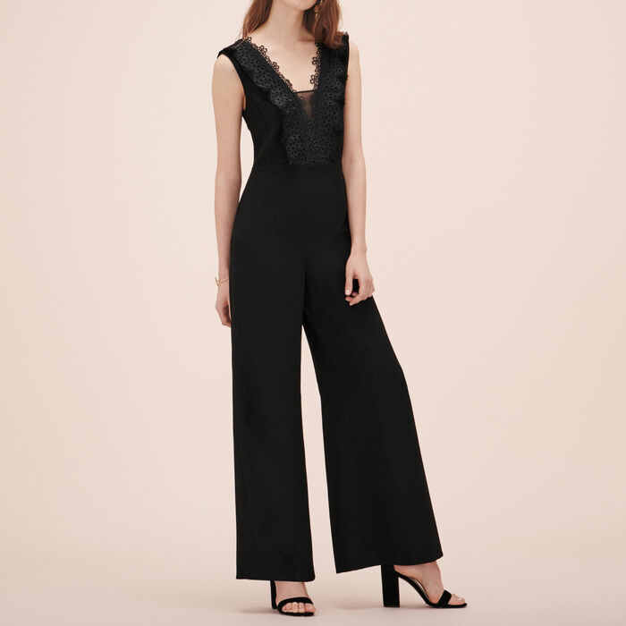 Jumpsuit with embroidery -  - MAJE