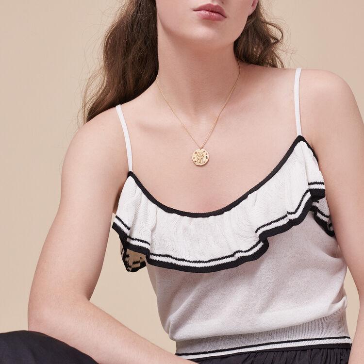 Taurus zodiac sign necklace -  - MAJE