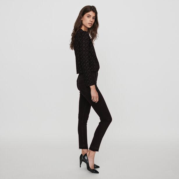 마쥬 베이직 스키니 진 MAJE 119PRESTA Basic skinny jeans,Anthracite