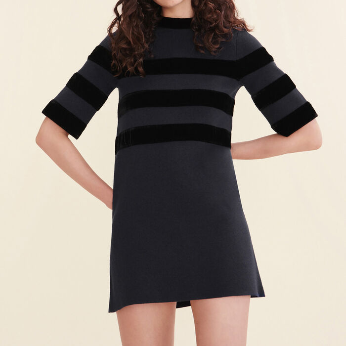 Short locknit dress -  - MAJE