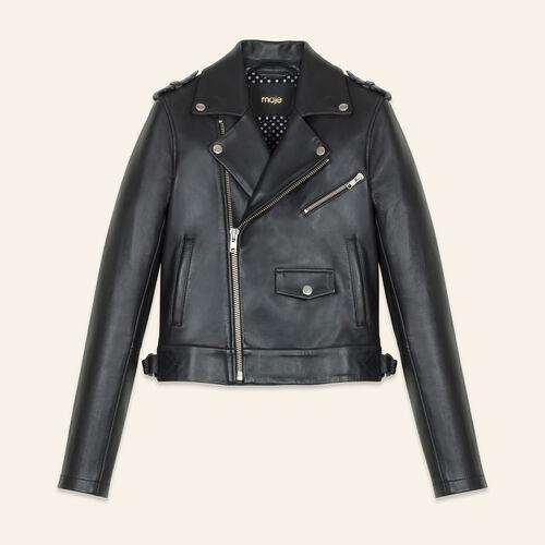 Bonded leather jacket - Coats & Jackets - MAJE