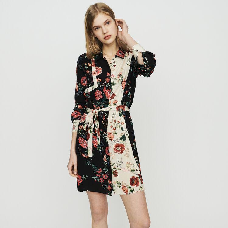 마쥬 MAJE RILLER Floral print shirt dress,PRINTED